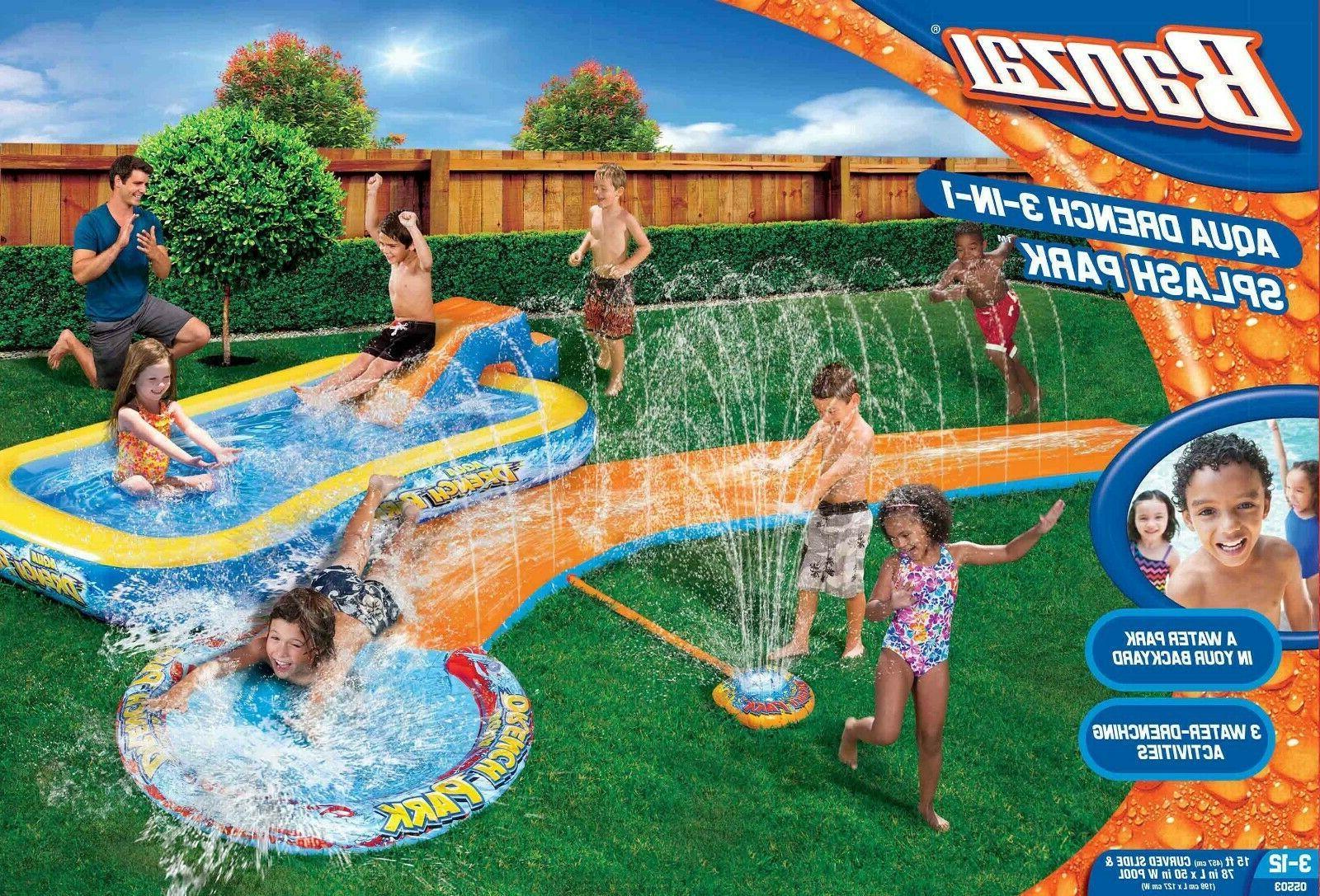 Inflatable Slides Splash Park Backyard Inflatable Swimming