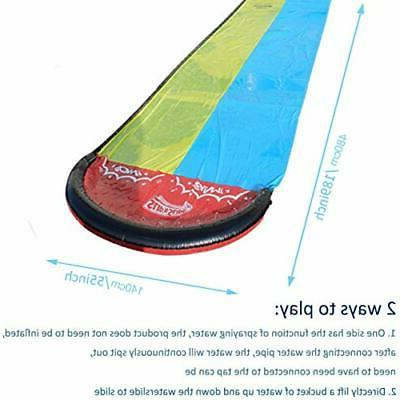 Inflatable Water Slip and Slide for Kids Great Outdoor Backyard