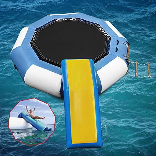 Series Padded Bouncer Inflatable Jump Water Trampoline Bounce Swim Platform for Sports