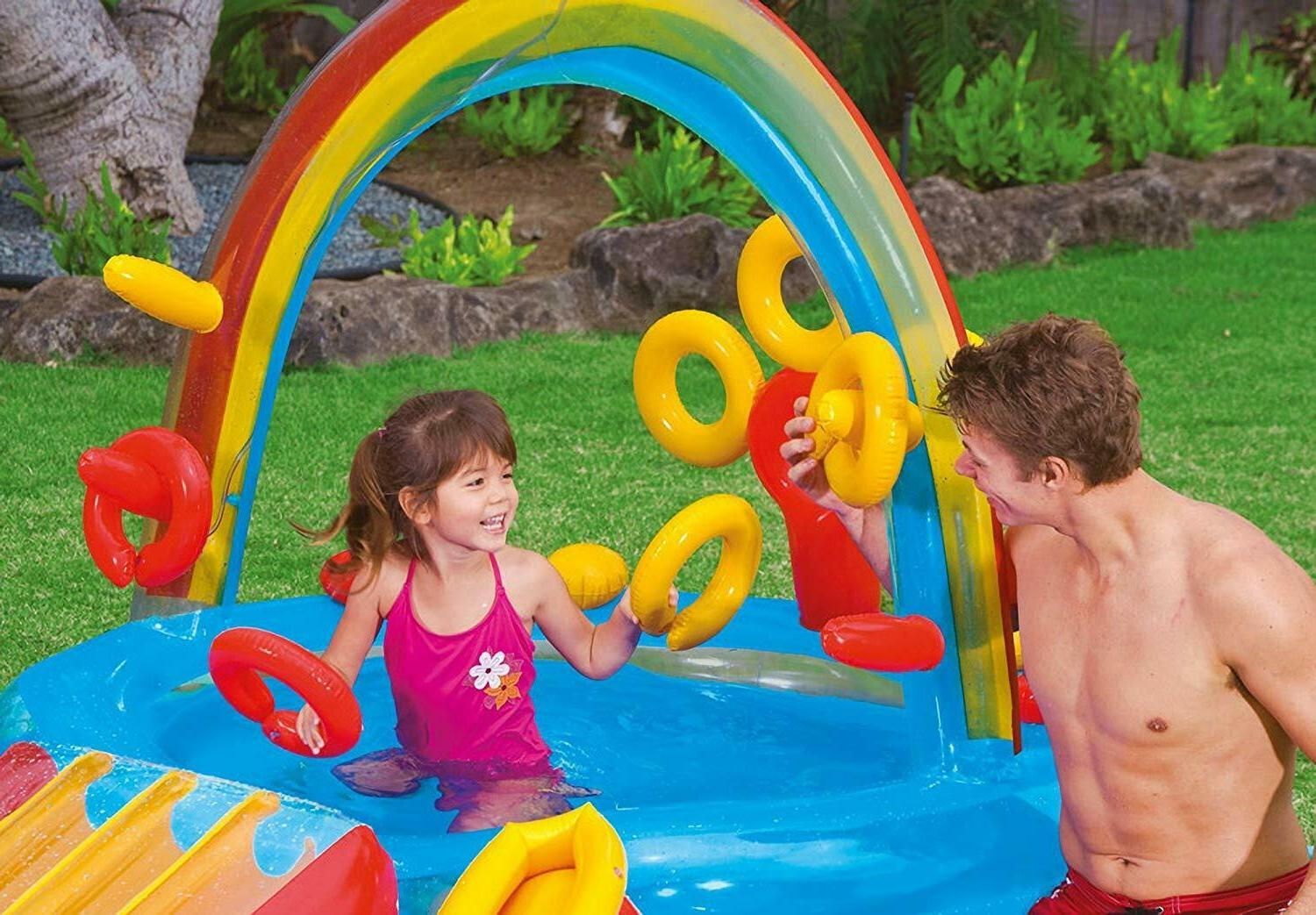 Outdoor Fun Inflatable Pool Slide Play