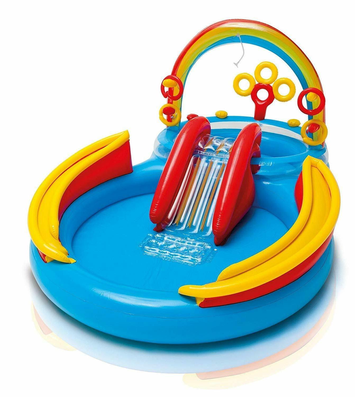 Outdoor Pool Slide Rainbow Play Park Center