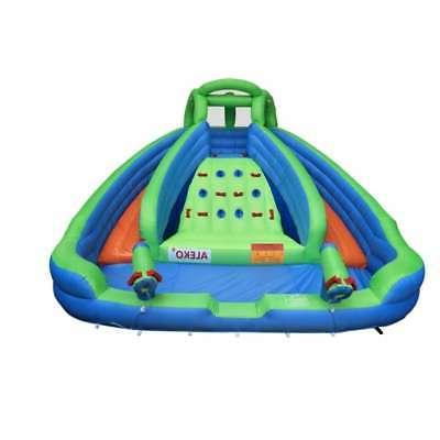 island water slide bounce house with climbing