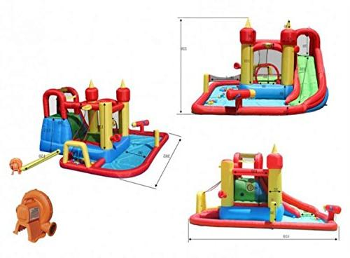 Happy Hop Splash Inflatable Bouncy & Slide