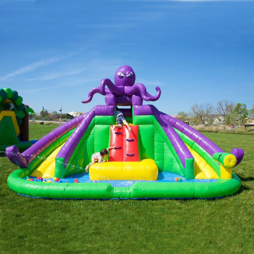 JumpOrange Inflatable Water Slide with