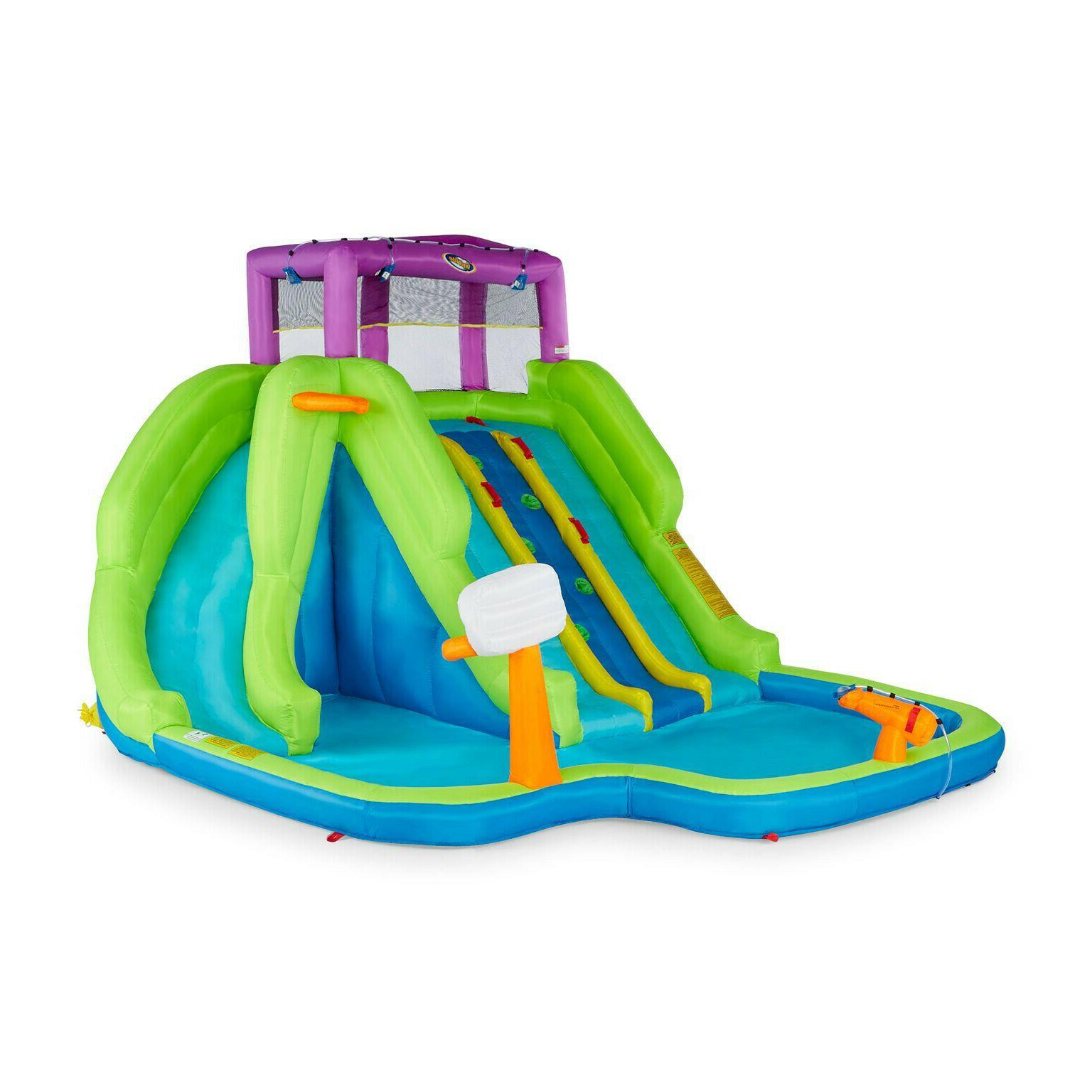 kahuna triple blast inflatable splash pool backyard