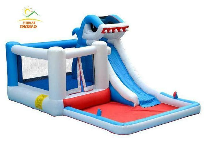 Kids Big Commercial Inflatable Shark Bounce House With Blower!!