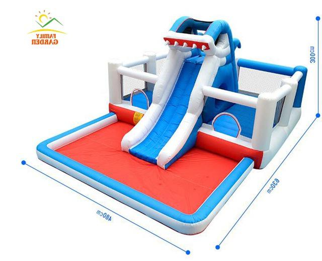 Kids Shark Water Slide House With
