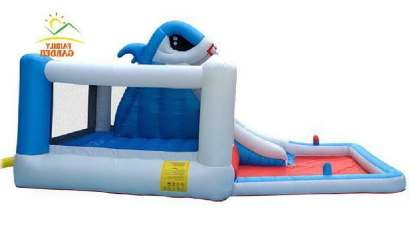 Kids Big Shark Slide Bounce House Air