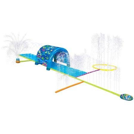Kids Inflatable Sprinkler Park. This Big Portable Kiddie Blow Up Above Ground Long Is For Boys Splash Have Water Fun
