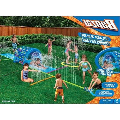 Kids Inflatable Sprinkler This Portable Kiddie Blow Up Ground Long Is Great For Toddlers & Children, Boys Splash Water Family.