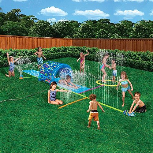 Kids This Blow Up Long Waterslide Is For Children, Boys & Splash To Water Family.