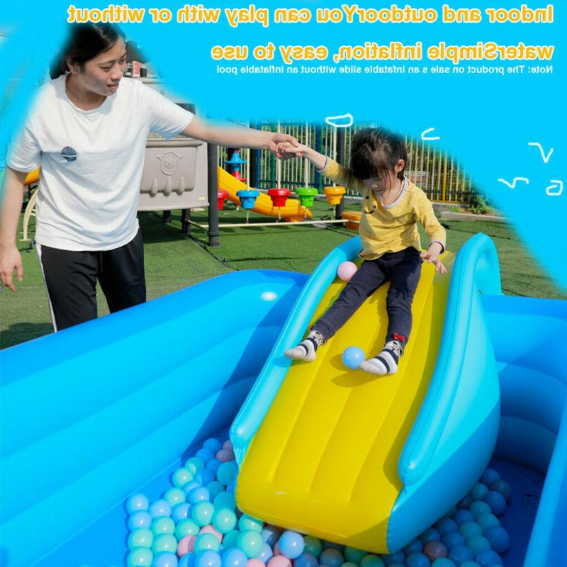 Inflatable Slides Kids Backyard Summer Air Pump Slides QQ