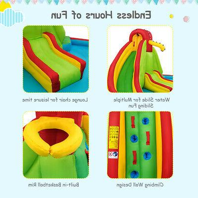 Kids Slide Bounce Park Splash w/Water & 680W Blower