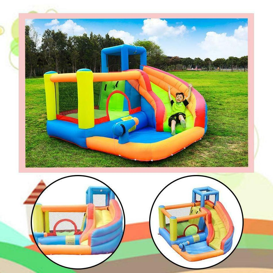 Kids Outdoor Inflatable Water Slide Bouncer Castle with