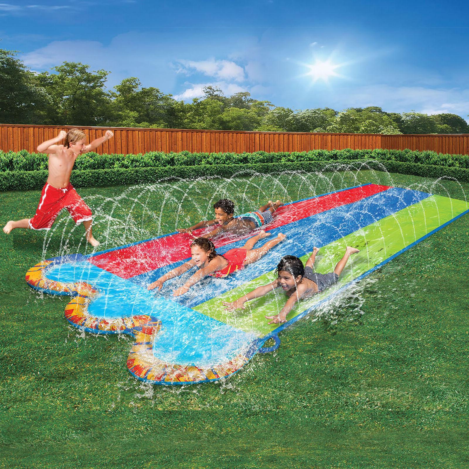 kids triple racer water slide 16 feet
