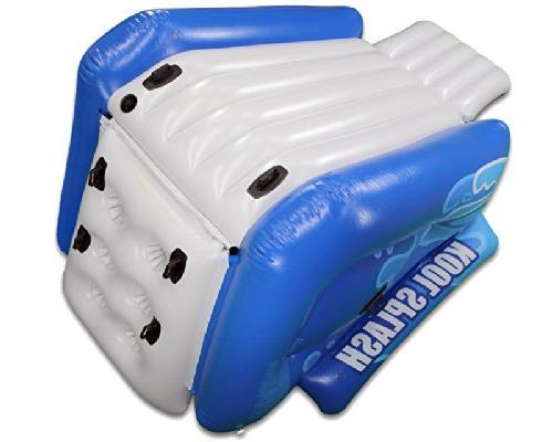 Intex Splash Swimming Pool Slide + Quick Pump