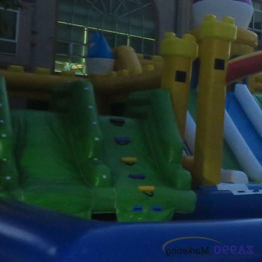 92x33ft Inflatable Water Park With Slides &