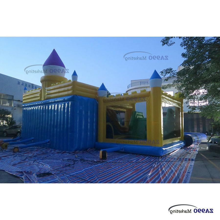 92x33ft Water Aqua With Slides &