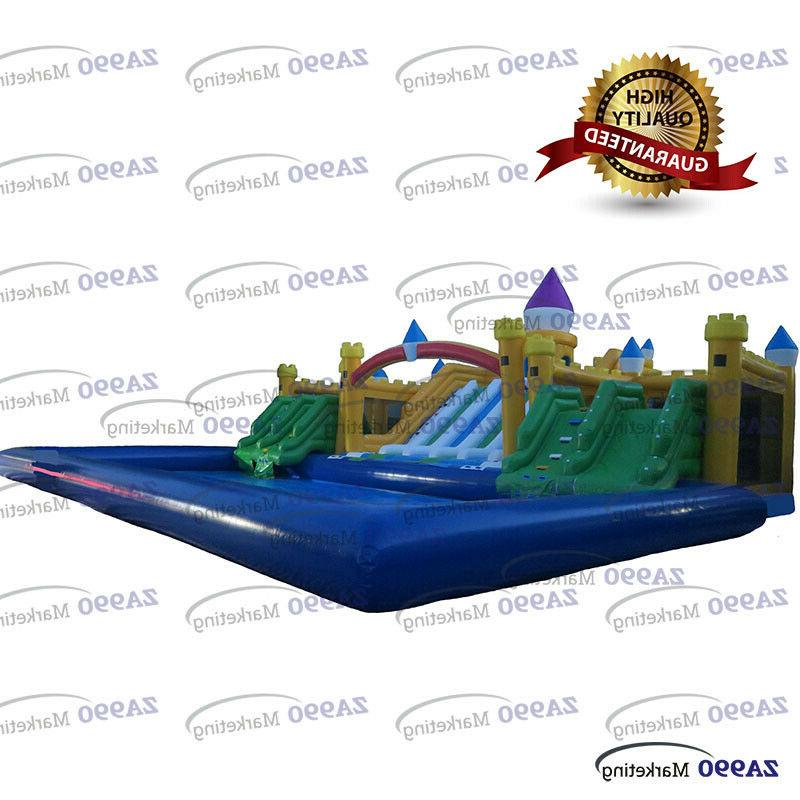large inflatable water park bounce house pool