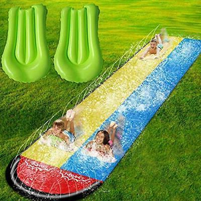Lawn Water Slides for Kids Adults Garden Backyard Giant Raci