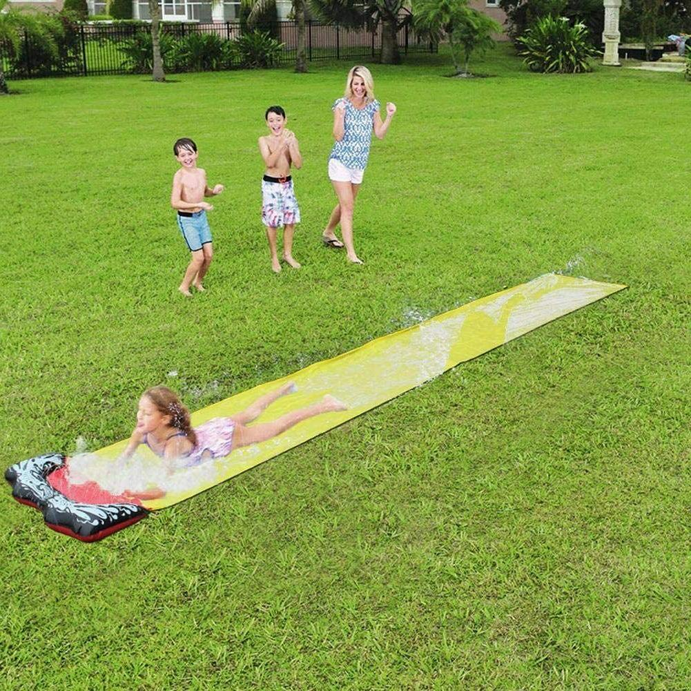 Lawn Water and Slide Crash pad and Spray for