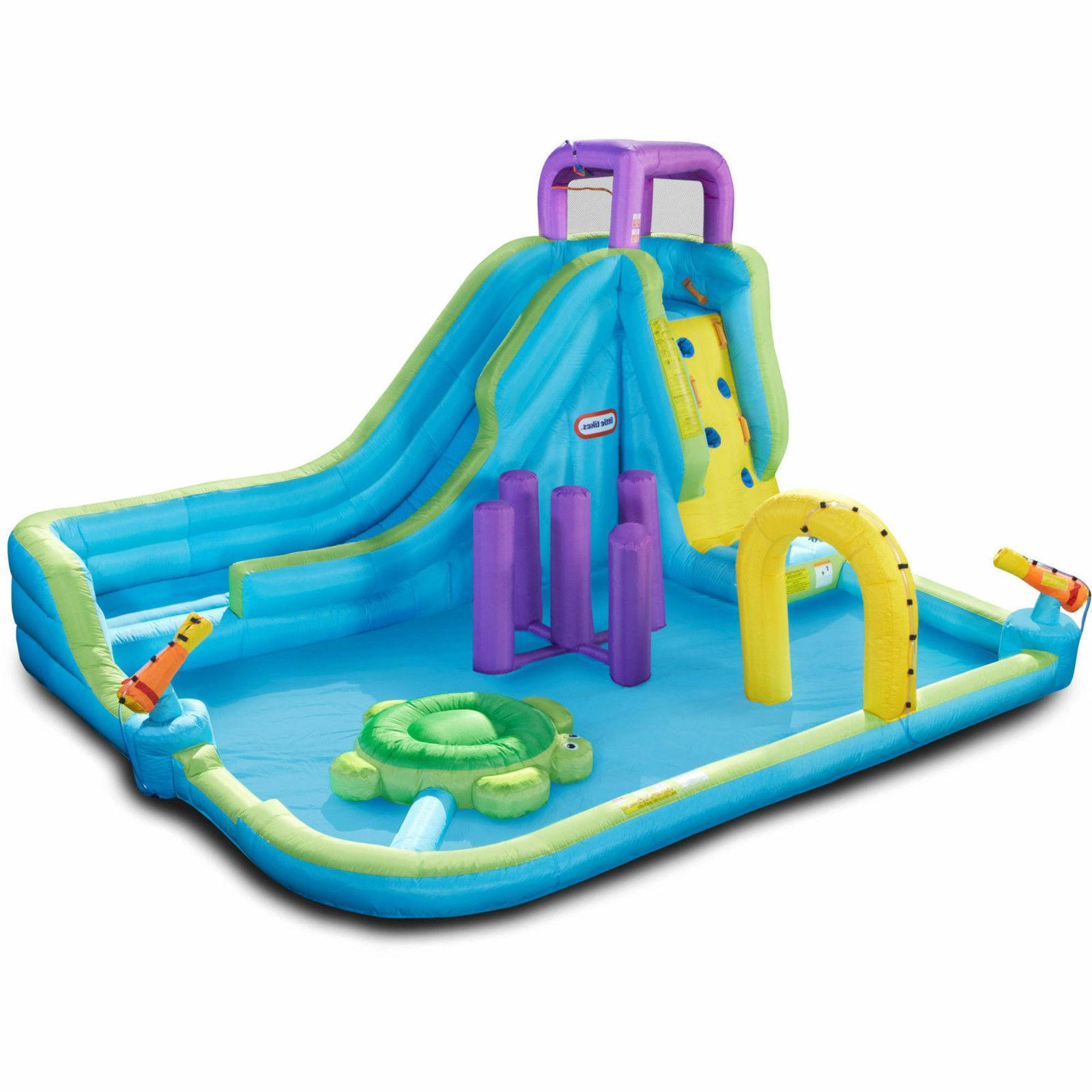little tikes inflatable obstacle course waterslide waterpark