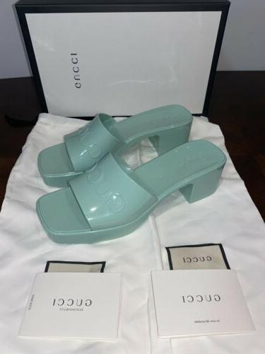 Gucci Women's Slides Sandals. Green. Brand