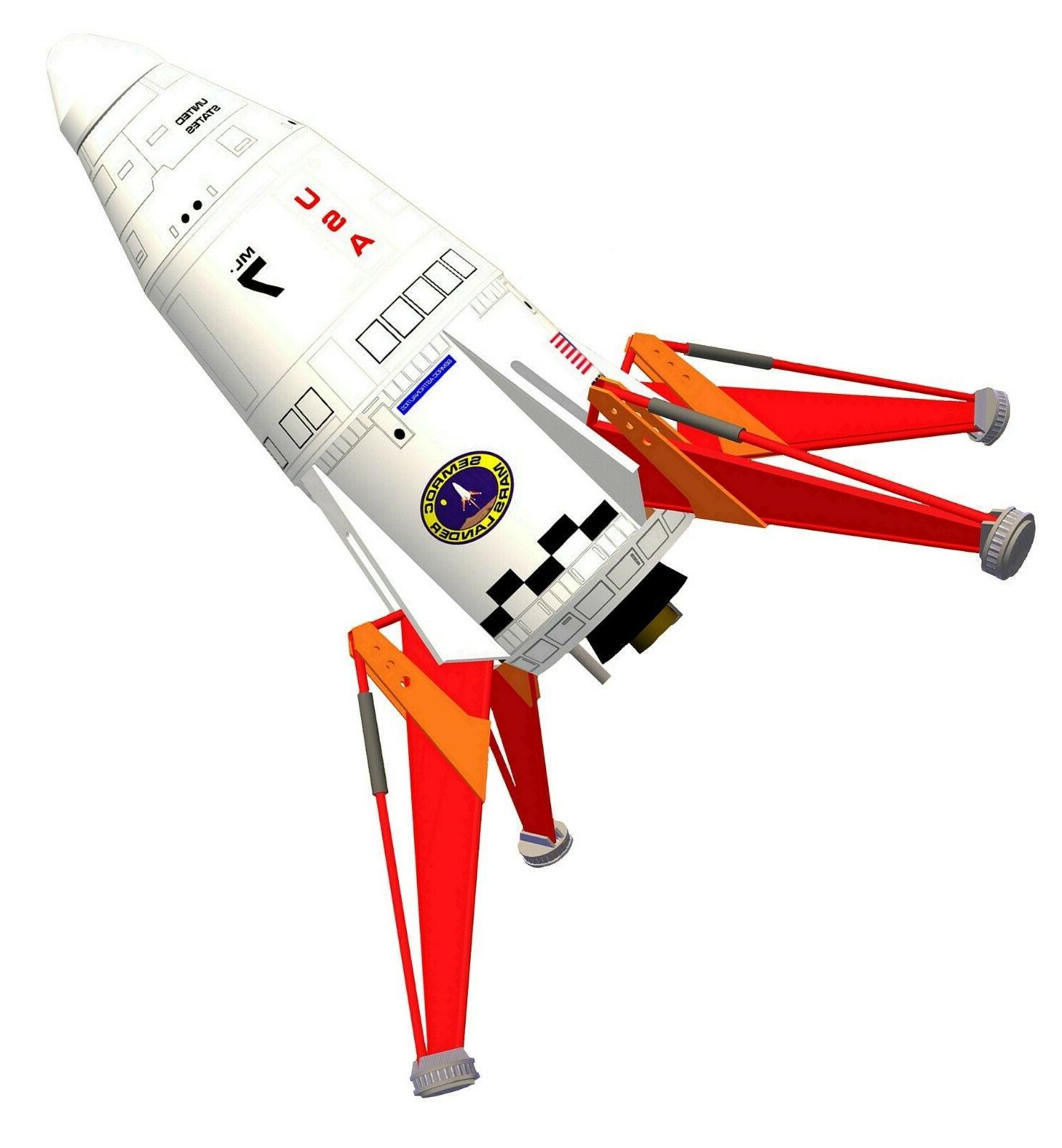 mars lander flying model rocket kit kv