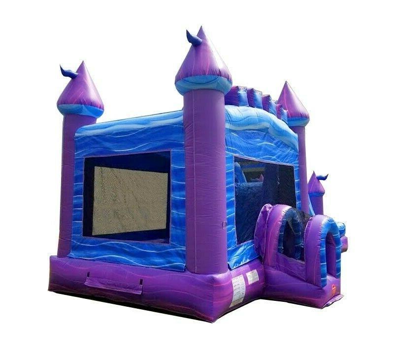 Mega Purple Big Water Slide House With