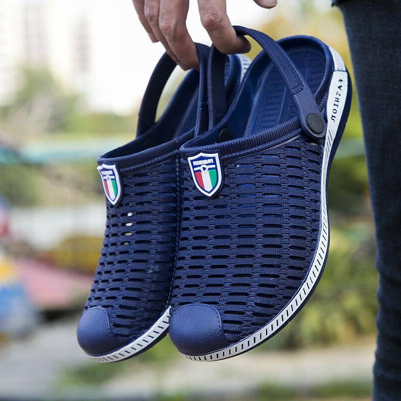 Men Beach Sandals Slides Sport Weaving Slippers 2019 Hot