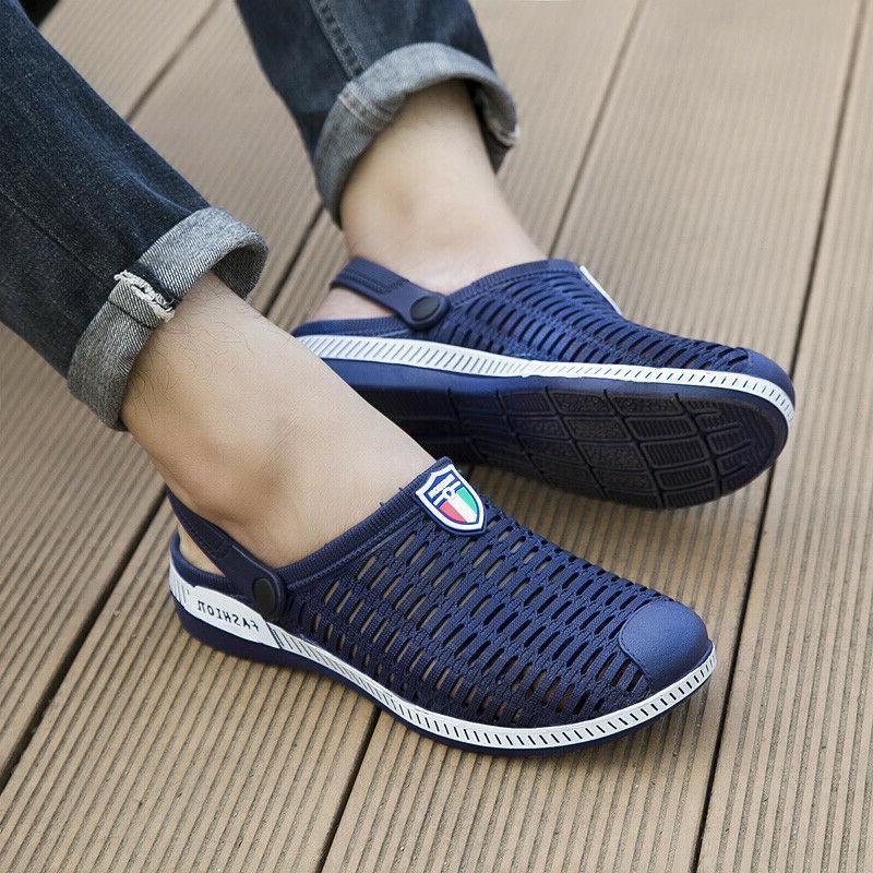 Men Beach Sandals Water Slides Clogs Outdoor Sport Weaving Slippers