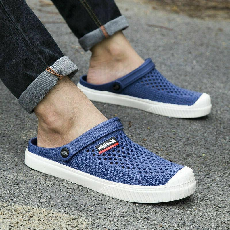 Men's Sandals Slides BLUE Weaving Slippers