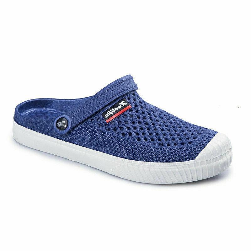 men s beach sandals water slides blue