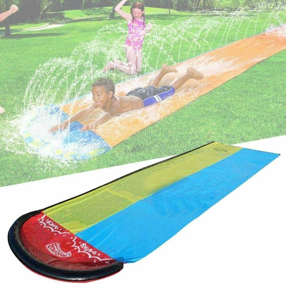 N/Y 19Ft Double Water Slide Inflatable Lawn Water Slip