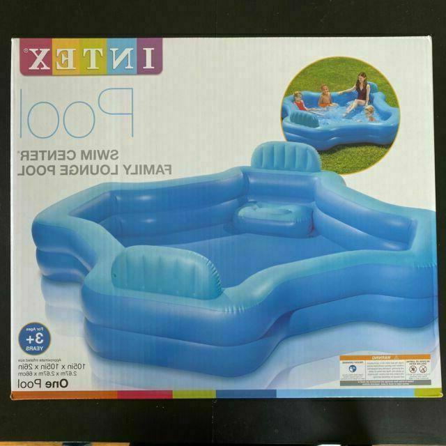 Intex Inflatable 2 Seat Swim Center Family Lounge Pool Blue