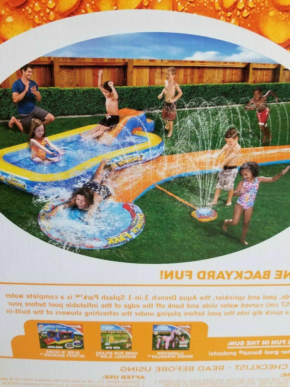 New Banzai Aqua Water Drench w/ Inflatable Pool