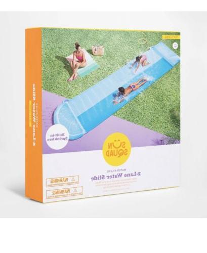 NEW Squad™ Double Water Slide 2 Lane Slip Style