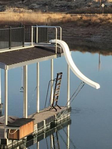 NEW Pontoon boat water slide