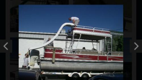 new pontoon boat houseboat water slide