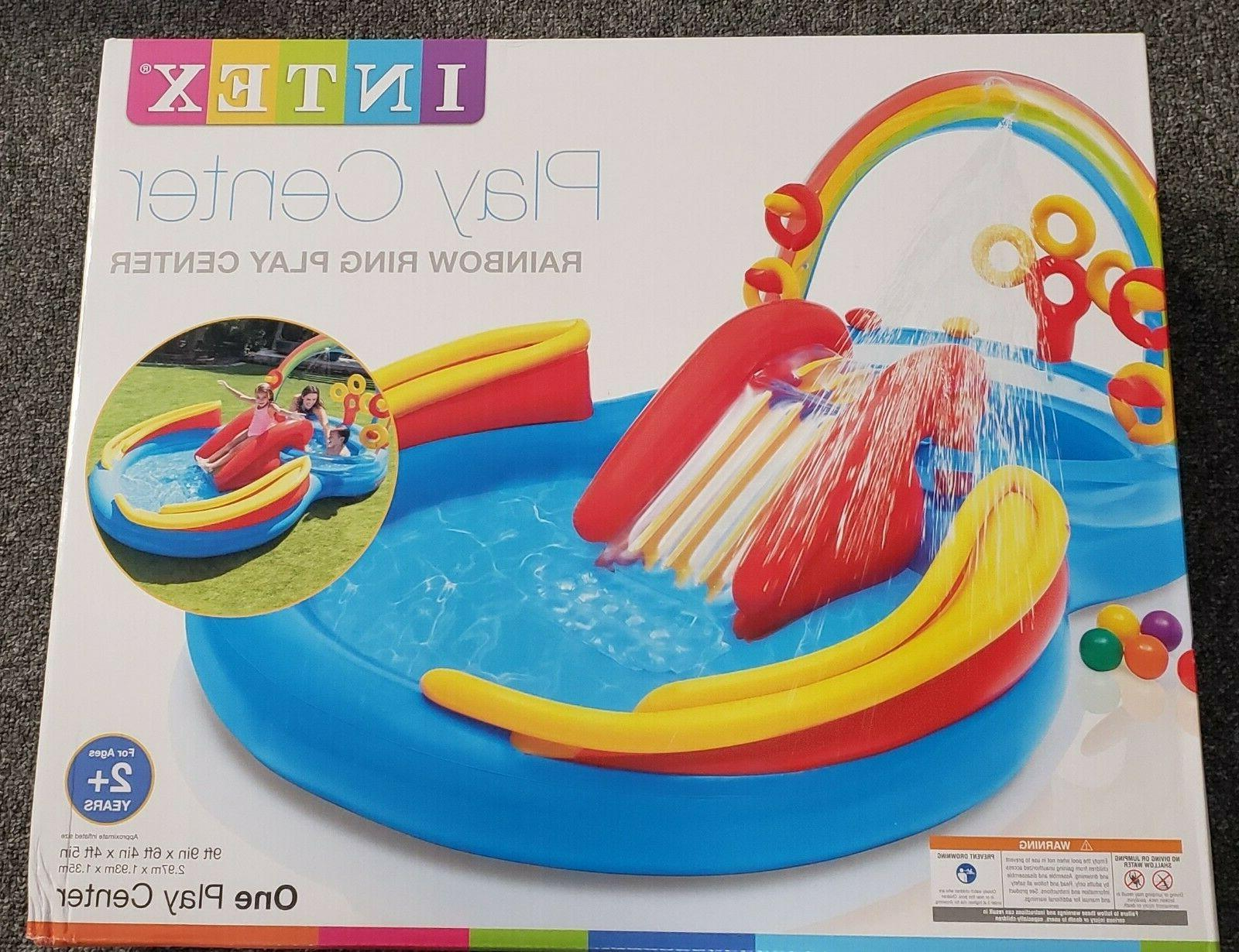 New Rainbow Ring Inflatable Water Slide 76""