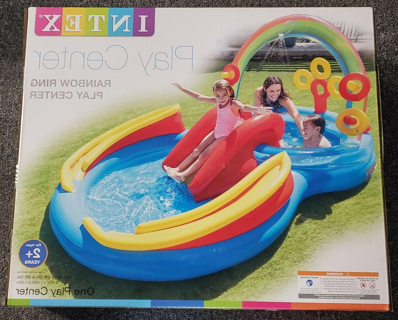 new rainbow ring inflatable play center pool