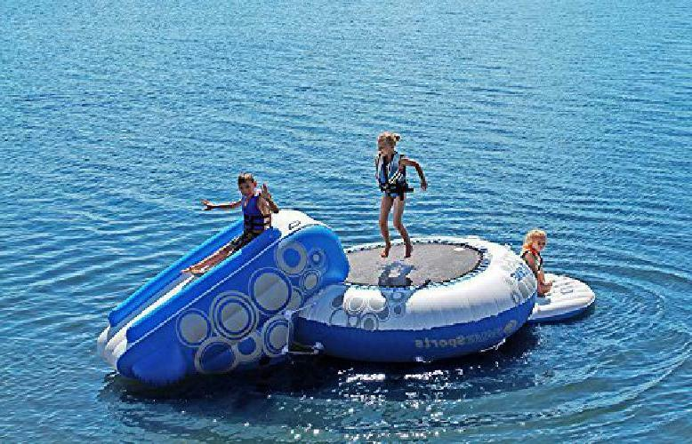 RAVE O-Zone Water Bouncer Bounce Platform and Slid