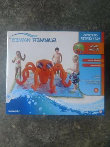 octopus play center swimming pool sprinkler kids