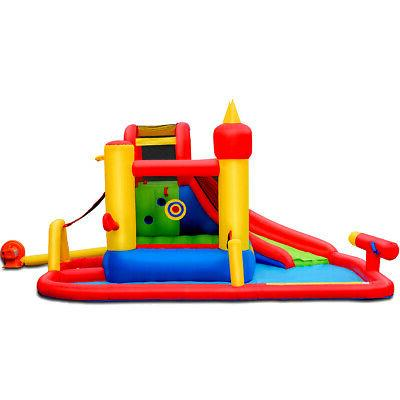 outdoor inflatable water slide jumping bounce house