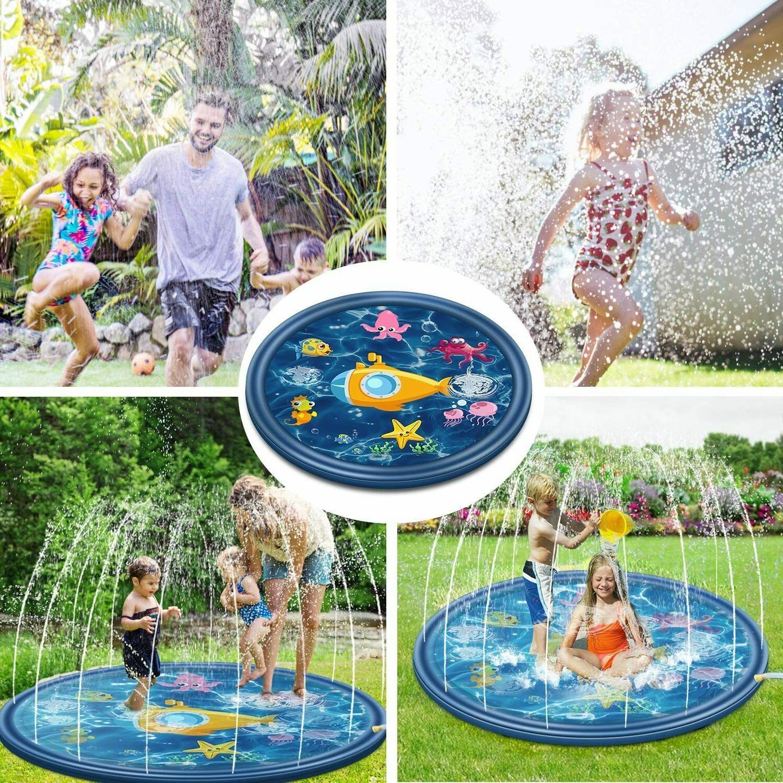 """Outdoor Sprinkler for Kids and Toddlers 68"""", Summer Splash Pad"""
