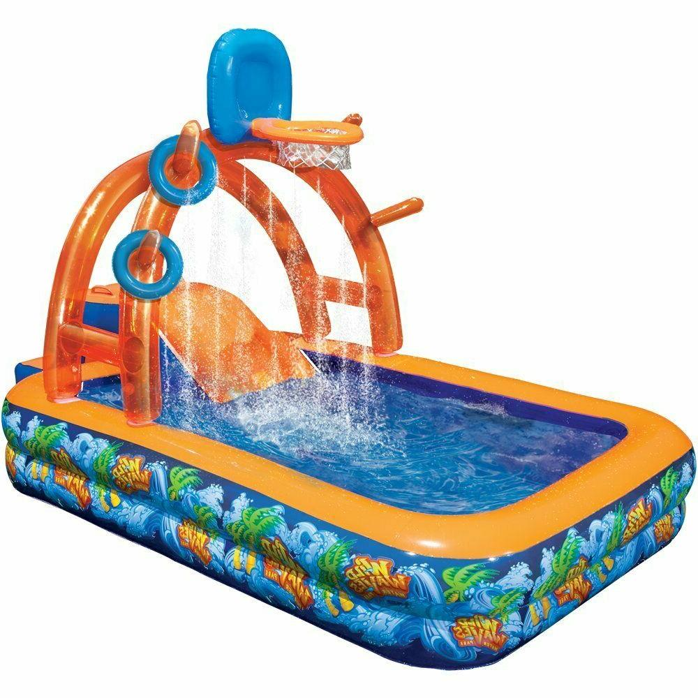 Outdoor Fun Basketball Water Park Center Inflatable Water