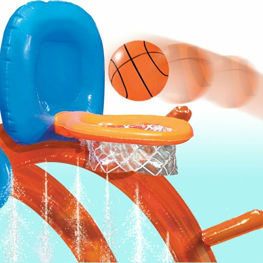 Outdoor Summer Kids Basketball Water Center Inflatable Water Pool
