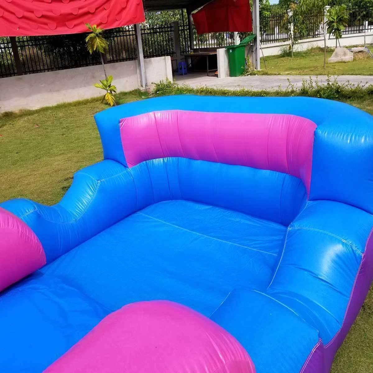 Pink Inflatable Slide Single Lane Vinyl Bouncy Wet Dry &