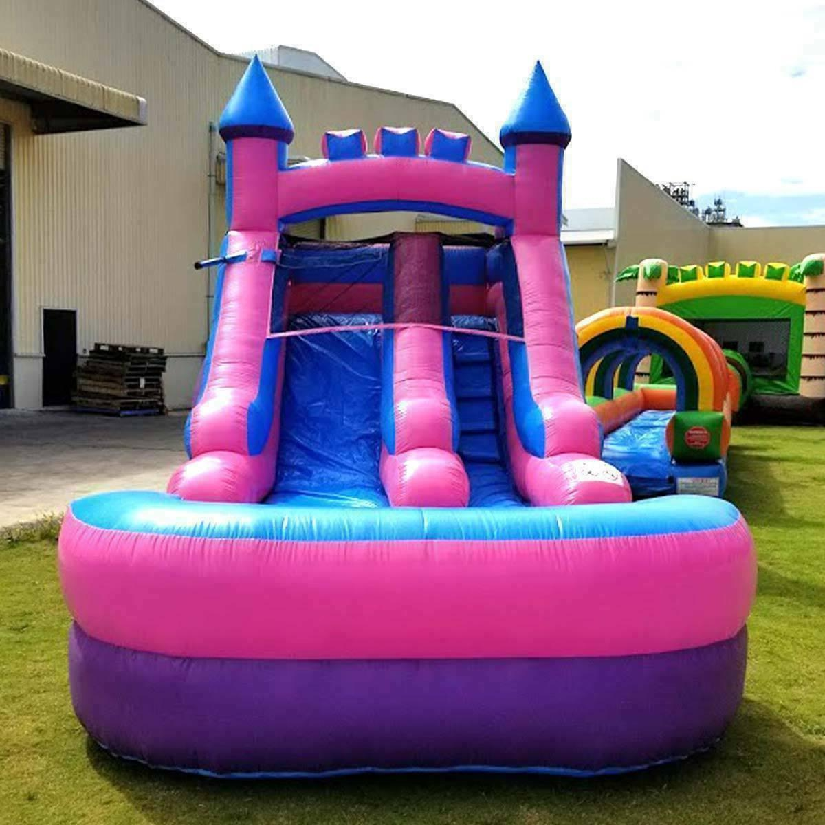 Pink Inflatable Water Slide &