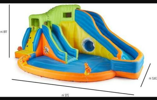 Banzai Park Inflatable Outdoor Pool and Slides